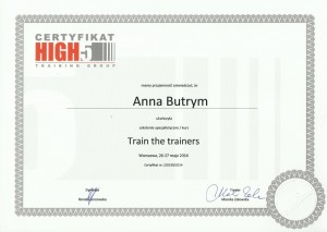 Train the trainers High5