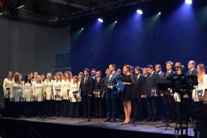 Anna Butrym Mariusz Walczak Akademicki Chór Politechniki Łódzkiej Gala Sportu Akademickiego 2015