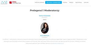 Anna Butrym moderacja panelu Oczami beneficjentów